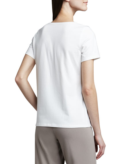 Stretch Organic Cotton Tee, Petite