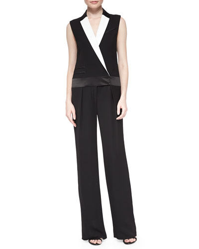 Vitalia Contrast Suiting Jumpsuit
