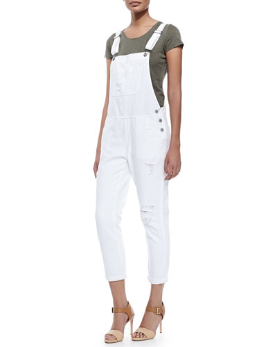 Finn Distressed Cuffed Overalls