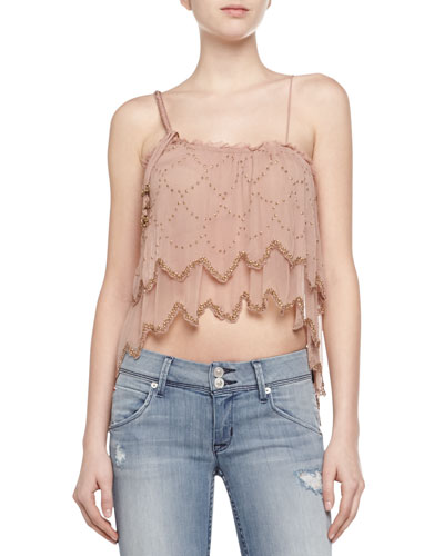 Fairy Dust Sequined Chiffon Top