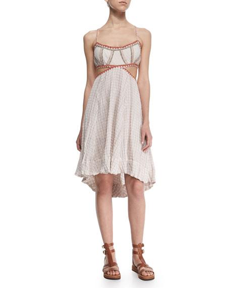 Free People Stitched Sleeveless Cutout Dress