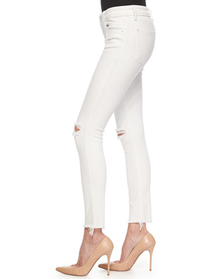 Emma Frayed Denim Skinny Jeans