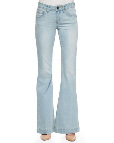 Joy High-Rise Flared Denim Jeans
