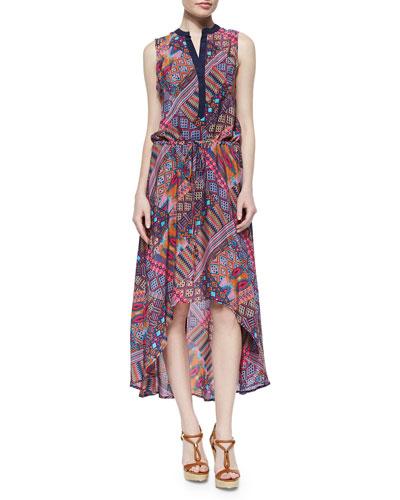 Lydia Printed High-Low Dress