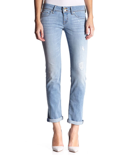 Ginny Low-Rise Crop Ankle Jeans, Mulholland