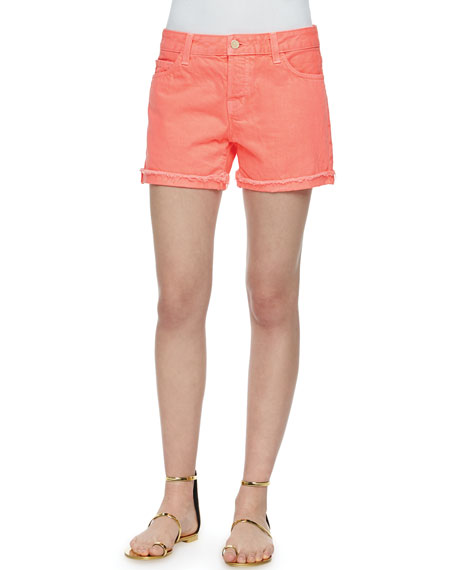 J Brand Jeans Kennedy Shorts, Flamingo Pink