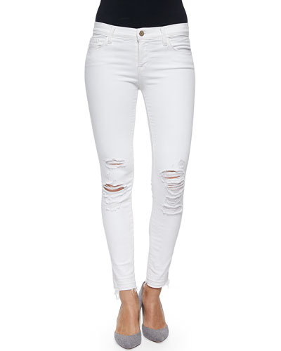 Low-Rise Skinny Crop Jeans, Demented