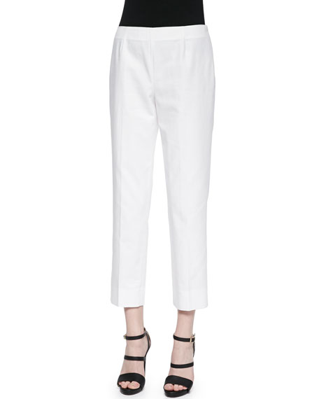 Lafayette 148 New York Bleecker Cropped Ankle Pants,