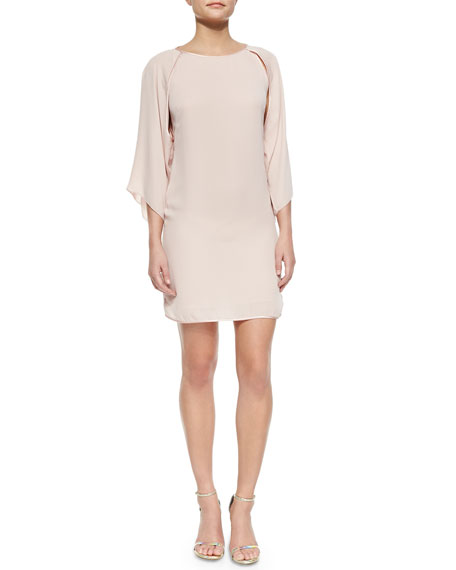 Halston Heritage Kimono-Sleeve Shift Dress