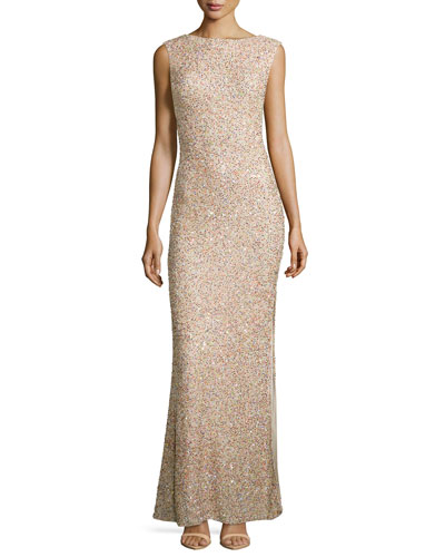 Sachi Sleeveless Embellished Gown
