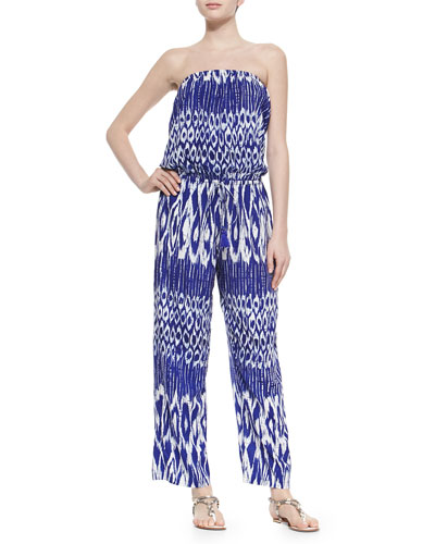 Printed Strapless Bandeau Jumpsuit