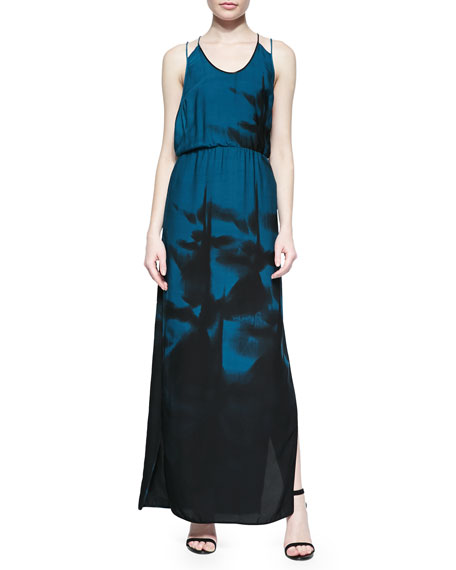 Halston Heritage Sleeveless Printed Maxi Dress