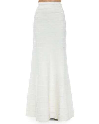 Jayde Signature Bandage Mermaid Skirt, Alabaster