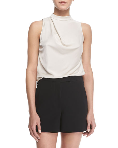 Halston Heritage Sleeveless Cowl-Back Top