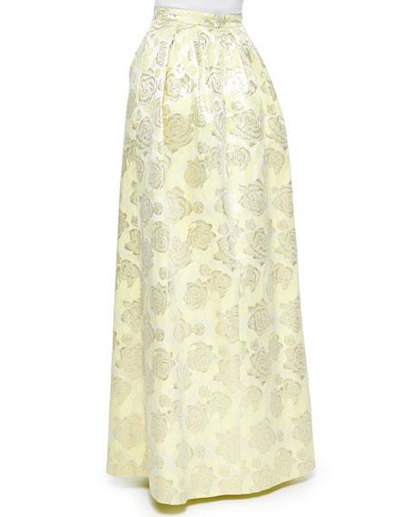 Floral Jacquard Ball Skirt