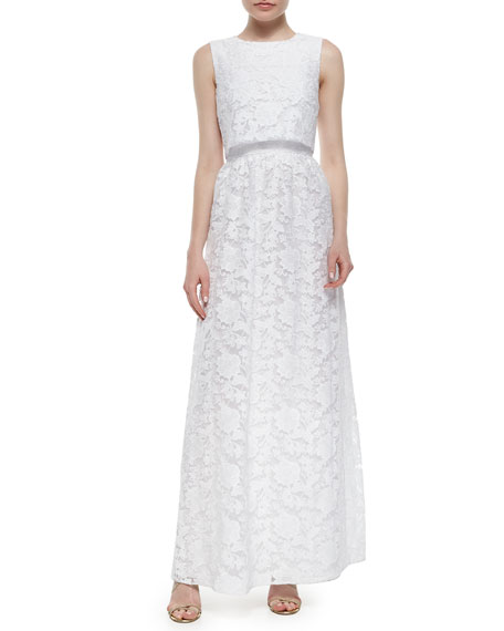 Erin Fetherston Sleeveless Popover Lace Gown
