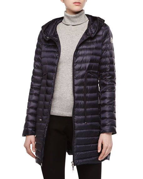 033b3becd Barbel Hooded Down-Fill Knee-Length Jacket Navy