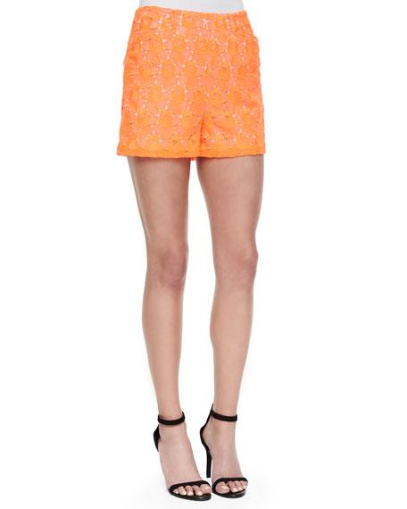 A.L.C. Sandra Floral-Lace Shorts