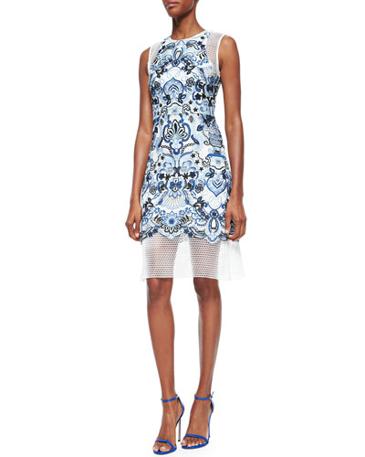 Giuliano Embroidered Cocktail Dress