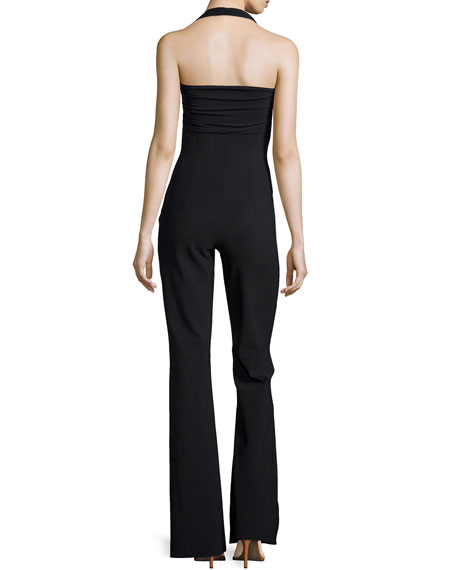 Rommy Halter Jumpsuit, Black