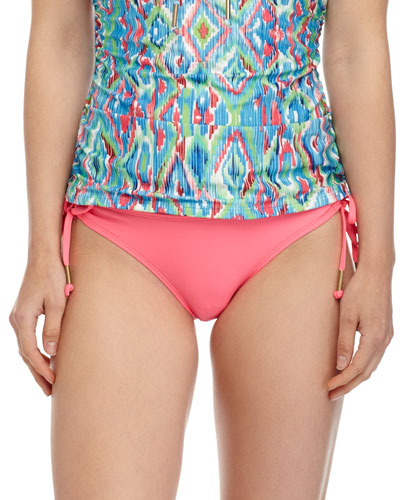 Solid Tunnel-Side Swim Bottom, Pink