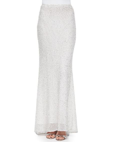 Alice + Olivia Ashton Sequined Skirt with Fishtail