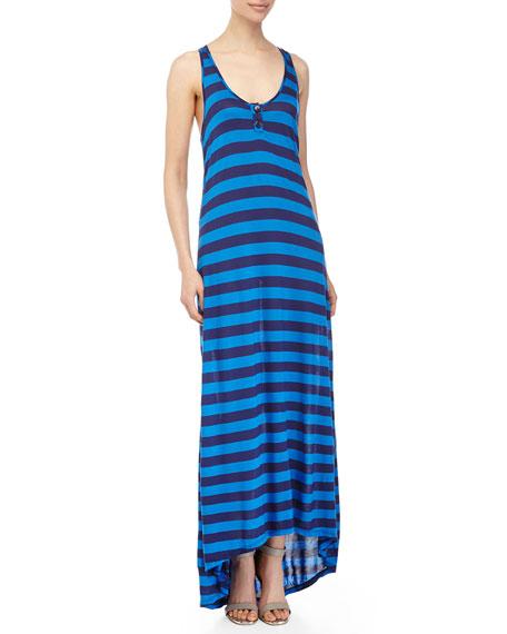 Splendid Marcel Stripe Maxi Dress, Navy/Blue