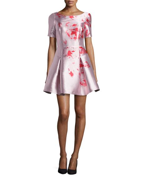 Sachin & Babi Noir Floral-Print A-Line Party Dress,
