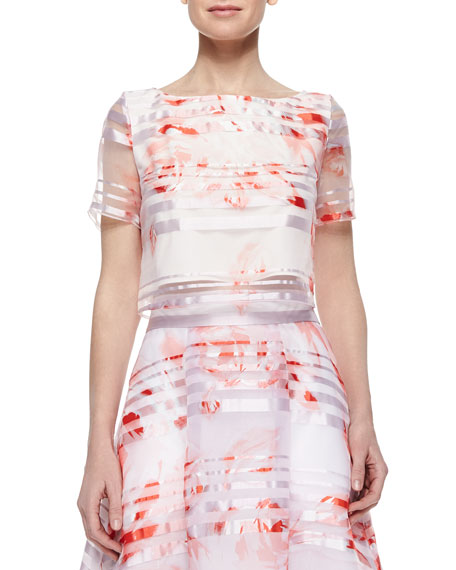 Sachin & Babi Noir Rose-Print Short-Sleeve Shirt