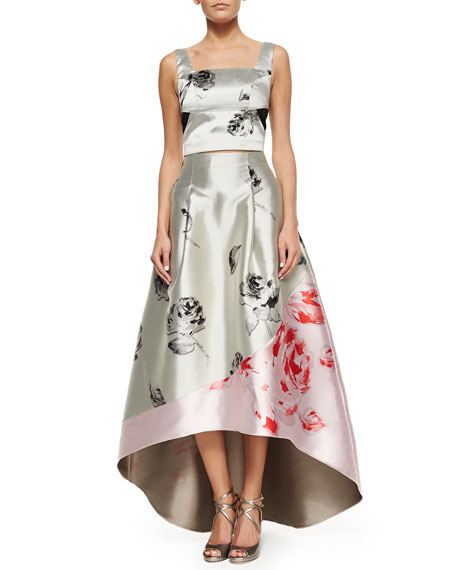 Madison High-Low Floral Ball Skirt