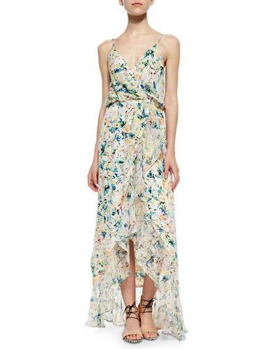 Monticello Printed Surplice Dress