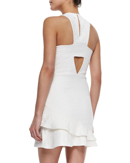 Barcelona Asymmetric Ruffle-Hem Dress