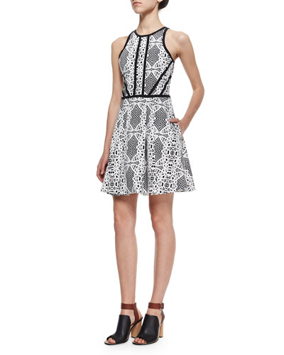 Hudson Lace-Pattern A-Line Dress