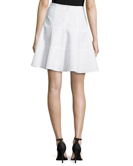 nanette lepore sassy high waist pleated skirt white