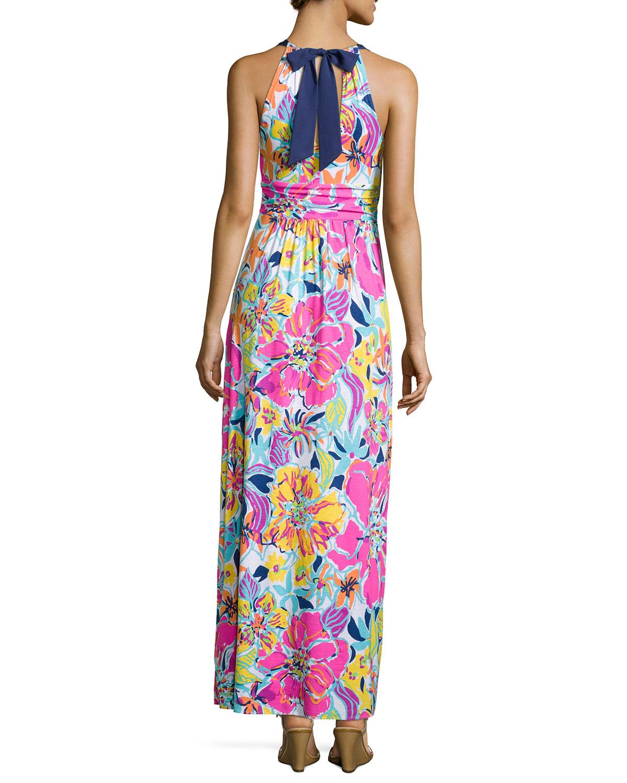 8307330832ff1f Lilly Pulitzer Amanda Floral-Print Maxi Dress   Neiman Marcus