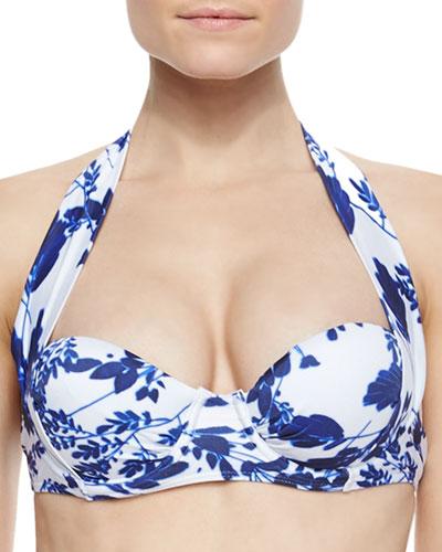 Lolita Printed Underwire Swim Top