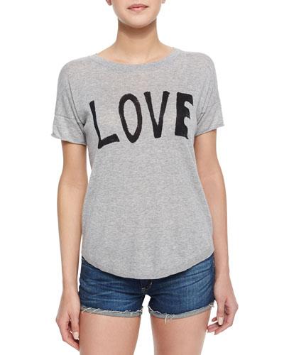 Love Short-Sleeve Slub Tee
