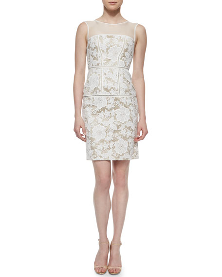 Trina TurkSarah Lace Sheath Cocktail Dress