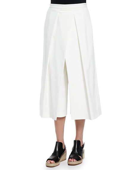 Agathe Pleated Cropped Culotte Pants