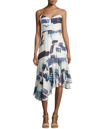 Oki Drop-Waist Asymmetric Dress