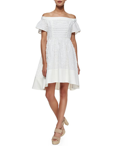 Sakura Off-the-Shoulder Dress, White