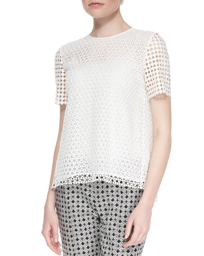 Crescent Guipure Lace Tee