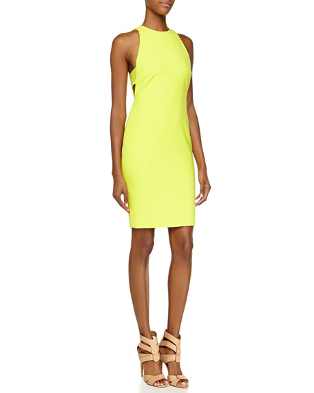 Elizabeth & James Oriana Side-Cutout Neon Dress