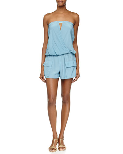 Tatiana Strapless Cutout Pocket Romper