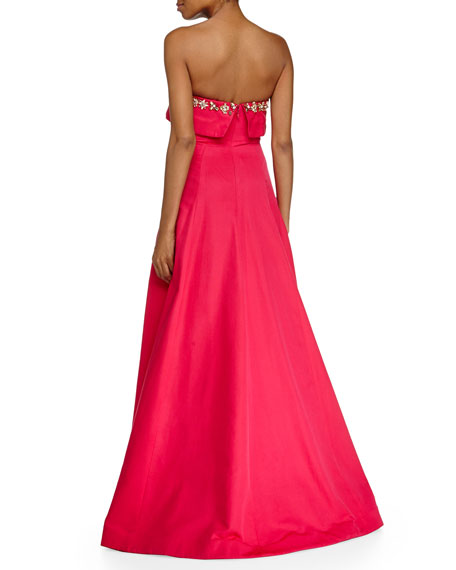 Strapless Beaded Bodice Ball Gown
