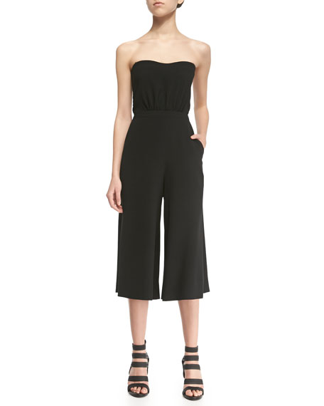Elizabeth and James Eri Strapless Wide-Leg Jumpsuit