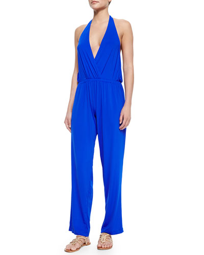 Splice & Dice Halter Jumpsuit
