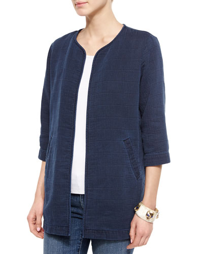 Fisher Project Denim Weave Long Jacket