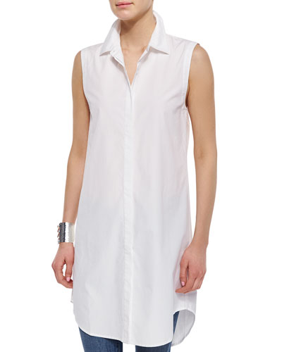 Fisher Project Long Sleeveless Shirtdress