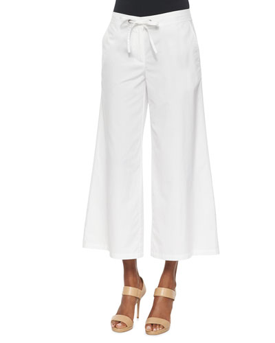 Fisher Project Wide-Leg Cropped Pants, White